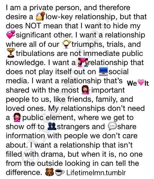 Relationship Goals Sayings: Our Relationship. We Don't Tell People Our Business And