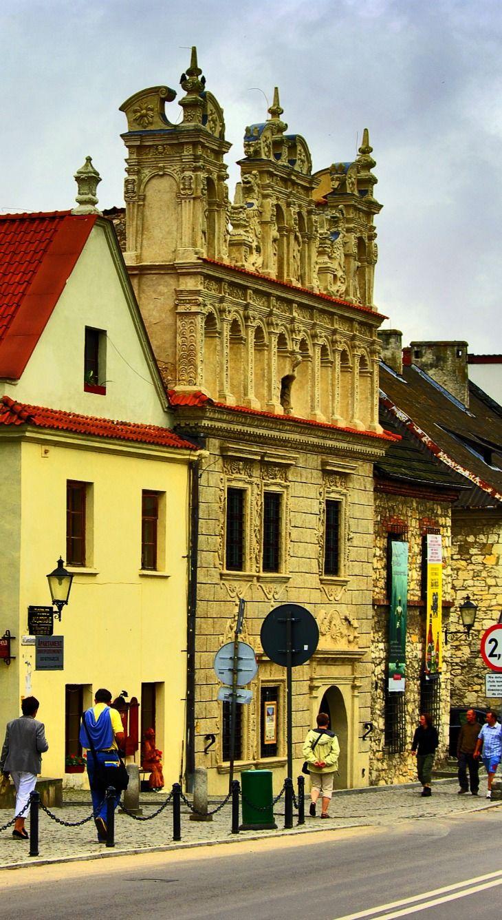 Yellow Buildings in Kazimierz Dolny, Lublin, Poland