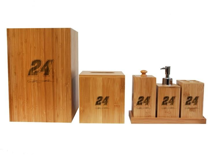 Ball Jeff Gordon 6-Piece Bamboo Bathroom Accessories Set