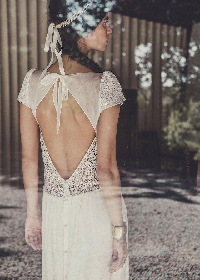 Laure de Sagazan robe de mariee robe Stiller et couronne Desnos collection 2015 chez Maria Luisa Mariage x Printemps - La Fiancee du Panda blog mariage