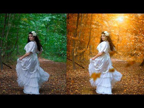 Autumn color effect | Photoshop tutorial | Soft light look - YouTube