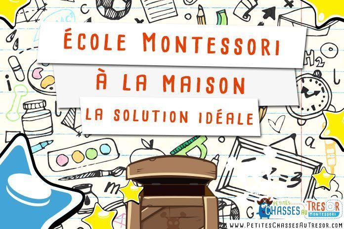 Ecole Montessori à la maison c'est possible. Voici une petite méthode pour s'en sortir et offrir le meilleur à vos enfants grace à la pédagogie Montessori.