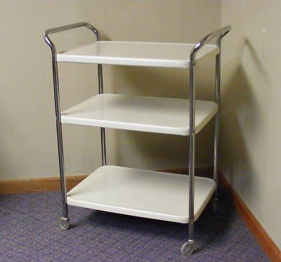 Vintage Serving Cart On Wheels