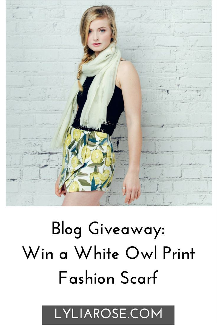 Blog Giveaway Win a White Owl Print Fashion Scarf #winitwednesday #giveaway #win #prize #competition  Welcome to today's #winitwednesday giveaway.  Today I'm giving away this printed lightweight oversized fashion scarf to one lucky blog reader!  It's now the perfect season to start wearing your scarves indoors and out.  My shop has lots of choice if you know a scarf lover.  If you love fashion accessories, do pop over to my online fashion accessories boutique for a good browse!  The minimum…