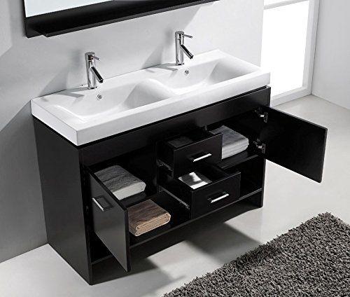 Gallery One  Venica Teak Double Vanity for Semi Recessed Sinks Double Sink Vanities