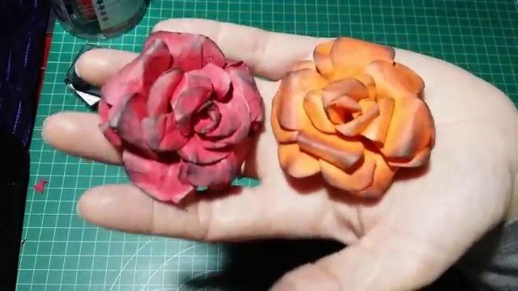 Flores de papel sin troqueladora. Tutorial rapidito