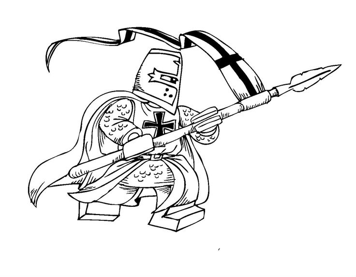 Knights Short Coloring Pages For Kids Printable Castles And