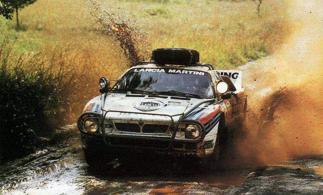 Lancia 037 of Markku Alen at 1986 Safari Rally