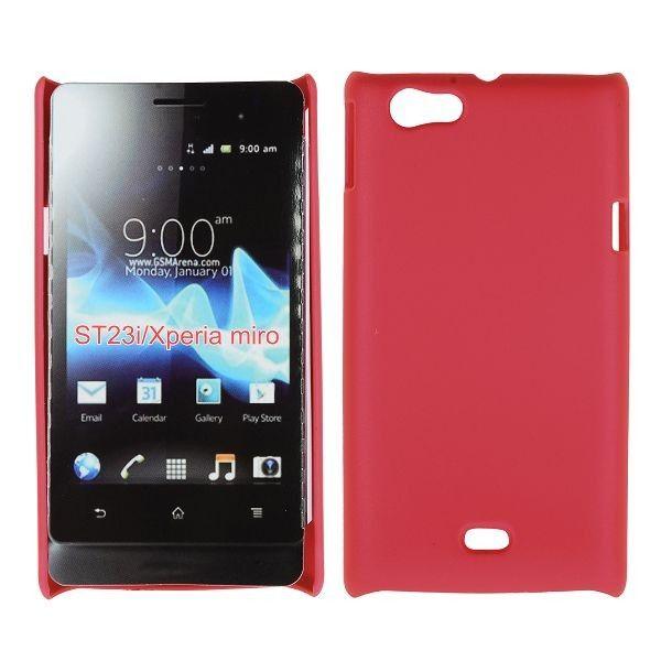 Hard Shell (Rød) Sony Xperia Miro Deksel