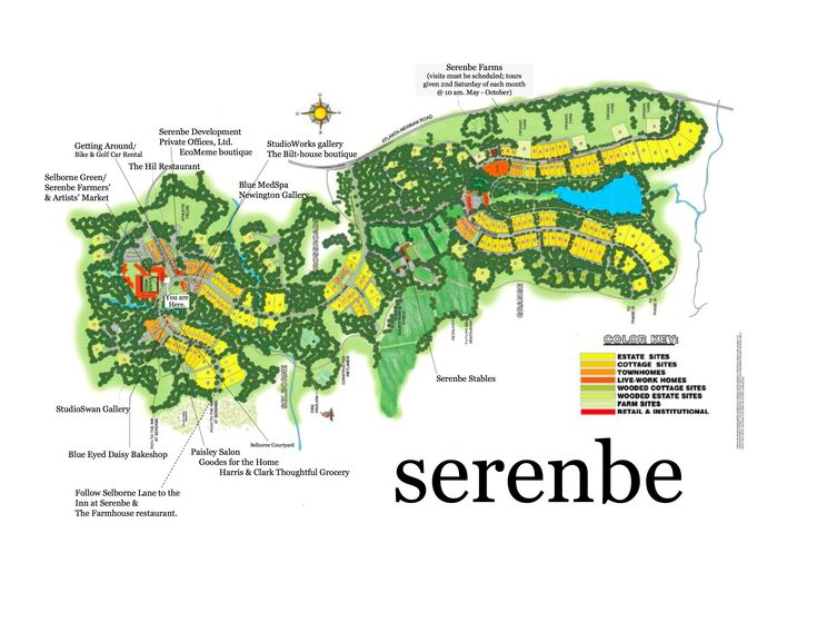 A third town center will be created in a future phase of Serenbe.