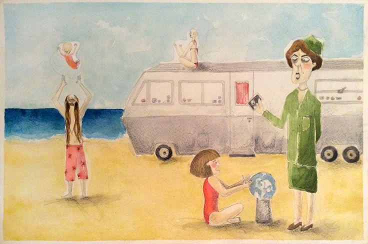 silvestre.en.playa | iChu.ilustradora