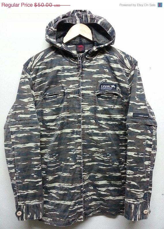 Clearance Vintage Tony Hawk Camouflage Jumper by SuzzaneVintage