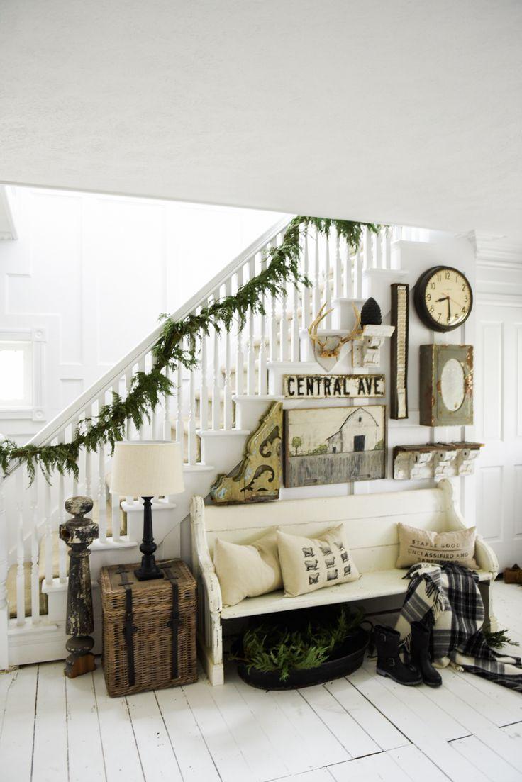 Cozy Farmhouse Winter Entryway