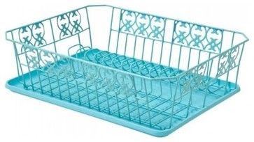 Sounds crazy, but it's the little things!  Prettiest Metal Dish Drainer, Turquoise contemporary dish racks