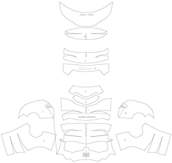 Dali lomo ant man helmet diy cardboard free template for Deathstroke armor template