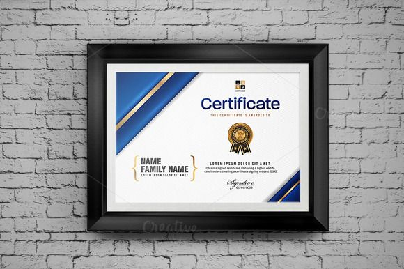 Certificate modern and luxury @creativework247