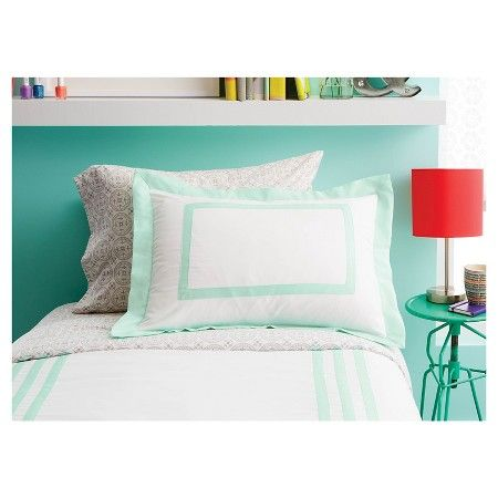 Hotel Joyful Mint Comforter Set (Full/Queen) Mint - Xhilaration™ : Target