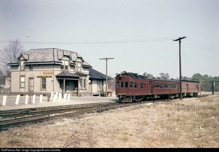 Pennsylvania Railroad GasElectric OEG350 at the PRR Toms