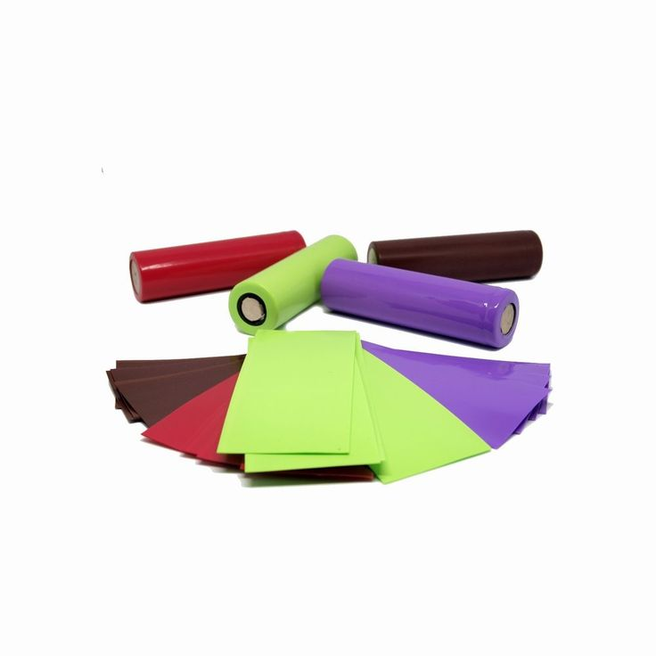 PVC Insulating Wraps  for 18650 batteries 18650 Insulating Rings (Lot) 4 Colors #UnbrandedGeneric