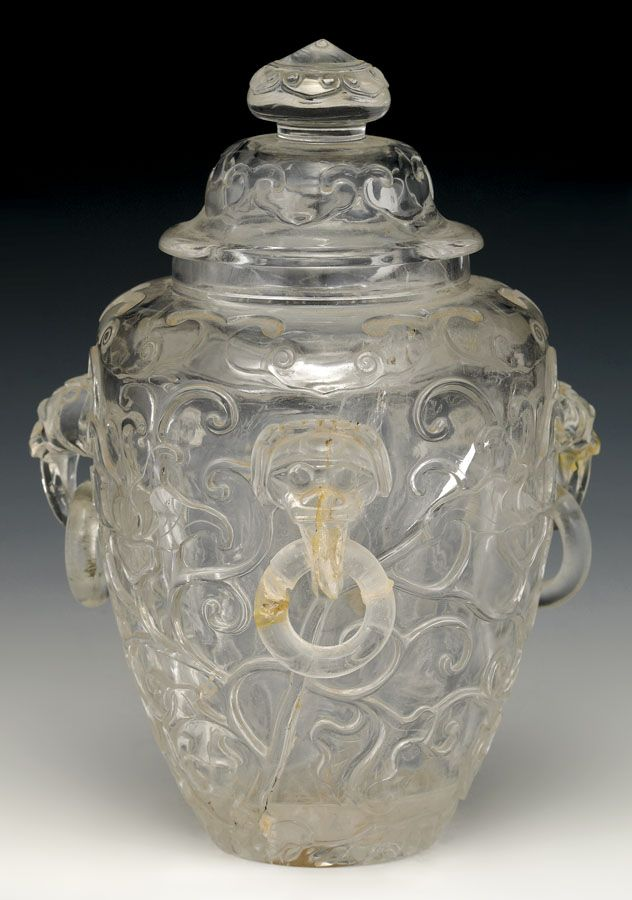 A ROCK CRYSTAL VASE AND COVER, QING DYNASTY, 19TH CENTURY. | © 2014 Sotheby's Australia