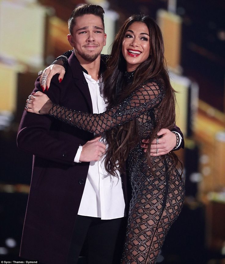 Triumph: Matt Terry was embraced by a joyous Nicole Scherzinger after being crowned winner of The X Factor 2016 during Sunday night's final