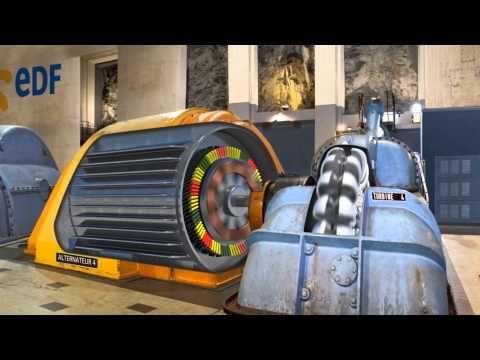 Voyage au coeur des énergies - Le fonctionnement d'une centrale hydraulique - YouTube