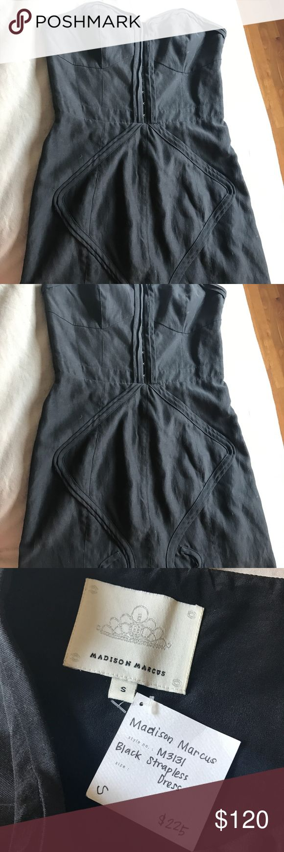 Madison Marcus Black Strapless Dress Brand new, never worn with tag still attached. Size small. Located in Culver City, CA. Madison Marcus Dresses Strapless