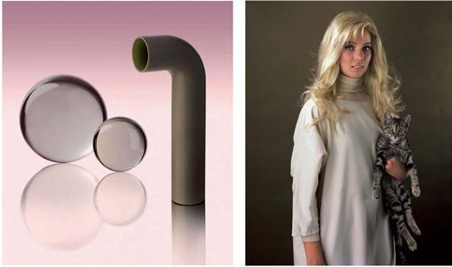 """Yvonne Todd (""""Sick Pipe Arrangement"""", 2007  """"Goat Sluice"""", 2006)."""