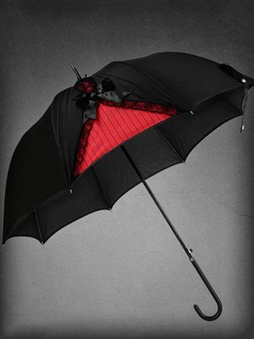 Parapluie gothique restyle corset rouge accessoires gothique - Accessoires gothiques ...