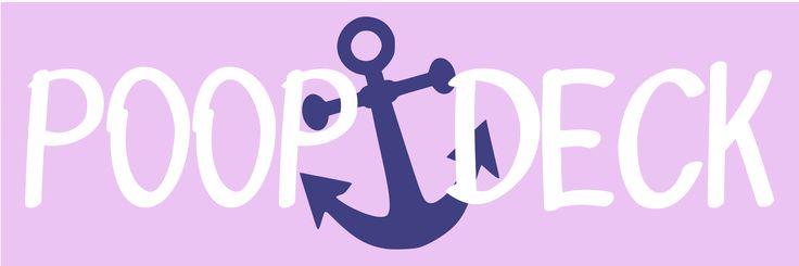 Poop Deck Nautical Nursery Decor