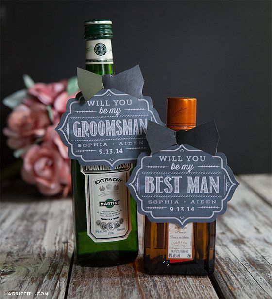 Will You Be My Groomsman Gift Tags or Card