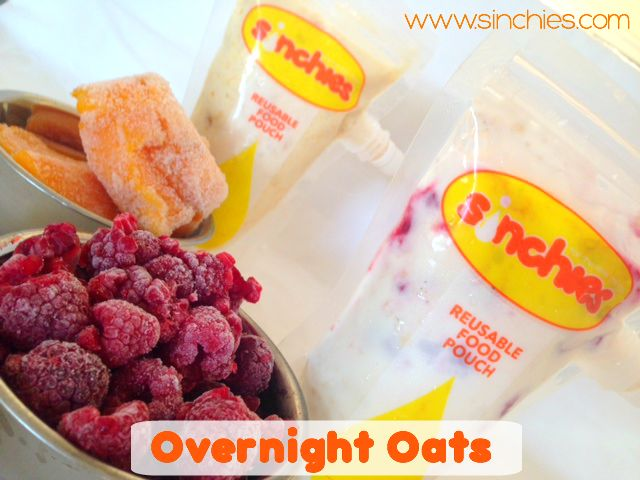 Overnight Oats #creamy #delicious #oats #fruit #yoghurt #sinchies #reusablepouches #reusablefoodpouch #squeezypouch #breakfast #snack #lunchboxes #kids #children #babies #adults #200ml #reusable #recyclable #sustainable #healthy #additivefree #preservativefree #nonumbers #nocolors