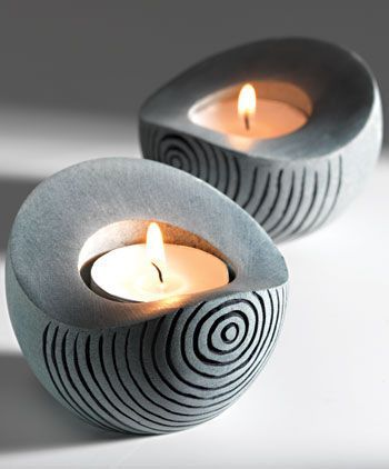 35 best Cement Votive images on Pinterest Concrete design - Schmale Tische Für Küche