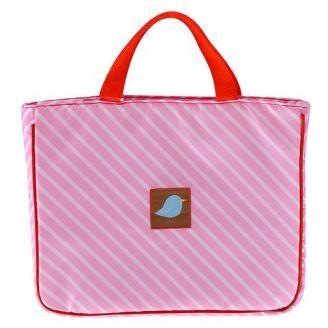 Jaq Jaq Bird Pink Stripe Tote Bag