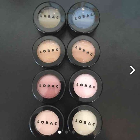 Bundle of 8 BRAND NEW Lorac eyeshadow pots 8 Gorgeous, Brand New LORAC eyeshadows. Colors included: gilded, safe, denim, caramel, soft pink, rose, blanc, and bone. Never used or swatched! Gorgeous colors to mix and match for beautiful day or night looks. Pay less than drug store brands at this price! Singles are $7 each Lorac Makeup Eyeshadow