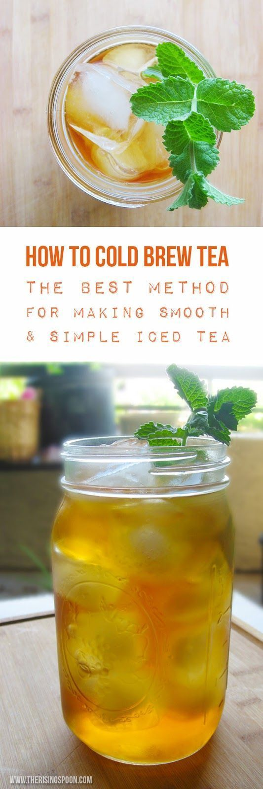How to Cold Brew Tea: The Best Method for Making Iced Tea. The simplest and possibly tastiest way to make iced tea all year long. Because the cold water is gentler on the leaves, there is less chance for bitterness. Nobody likes bitter tea, right? | Real Food Recipe | Drinks | Summer | Paleo | Vegan | DIY | Healthy |