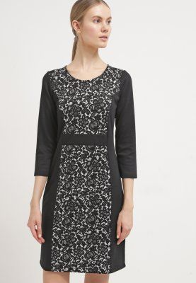 Anna Field Jerseyklänning - black/white - Zalando.se