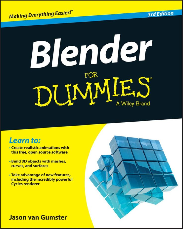 Blender For Dummies - 3rd Edition 2015 Learn 3D animation the easy way with this complete step-by-step guide Blender For Dummies is the quick and easy guide to learning 3D modeling and animation using the popular, free, open source Blender software. You'll learn how to create models, animate movement, and render well-lit scenes as you master the powerful features that rival the more expensive professional animation software. This third edition is updated to cover the latest features added…