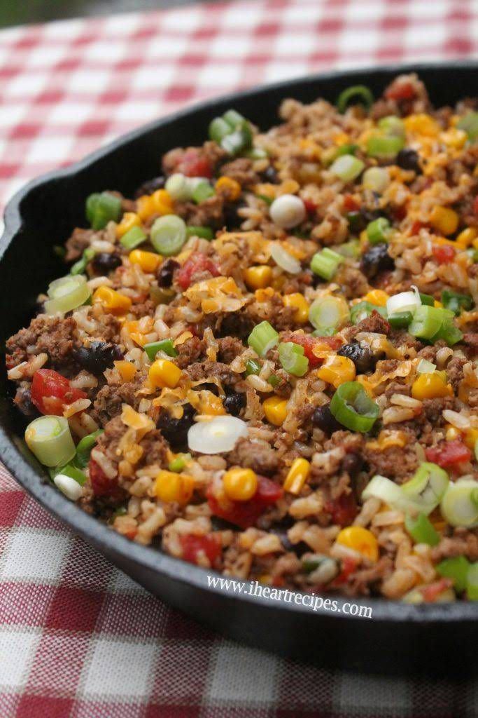 Tex Mex Ground Beef Skillet Recipe Yummly Recipe Beef Recipes Recipes Beef Skillet Recipe