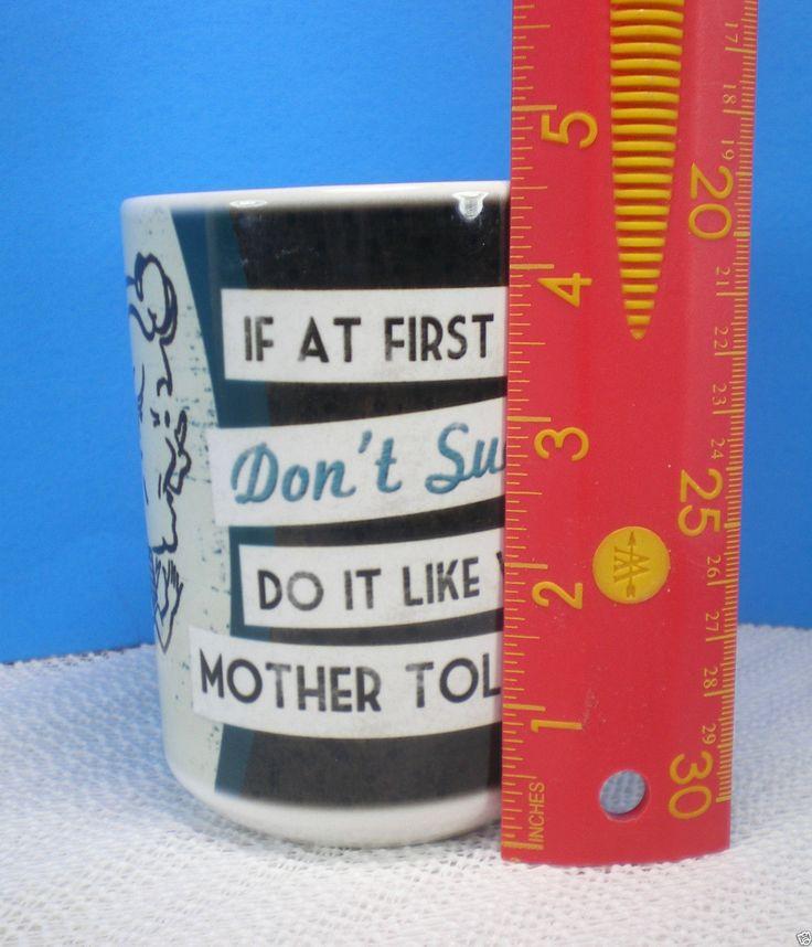 Coffee Mug X-large Ceramic Humor Retro Look Big Tall Mug Cup Coffee Collectible