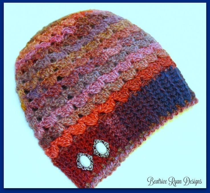 Simple Shells Slouchy Beanie... Free Crochet Pattern!!