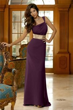 purple and gold bridesmaid dresses - Google Search