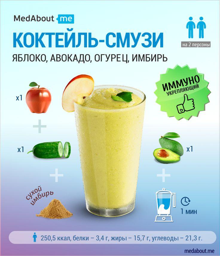 Смузи из яблок и авокадо