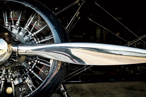 Photo Credit: Eric Kiel. The Midnight Rider's radial engine.