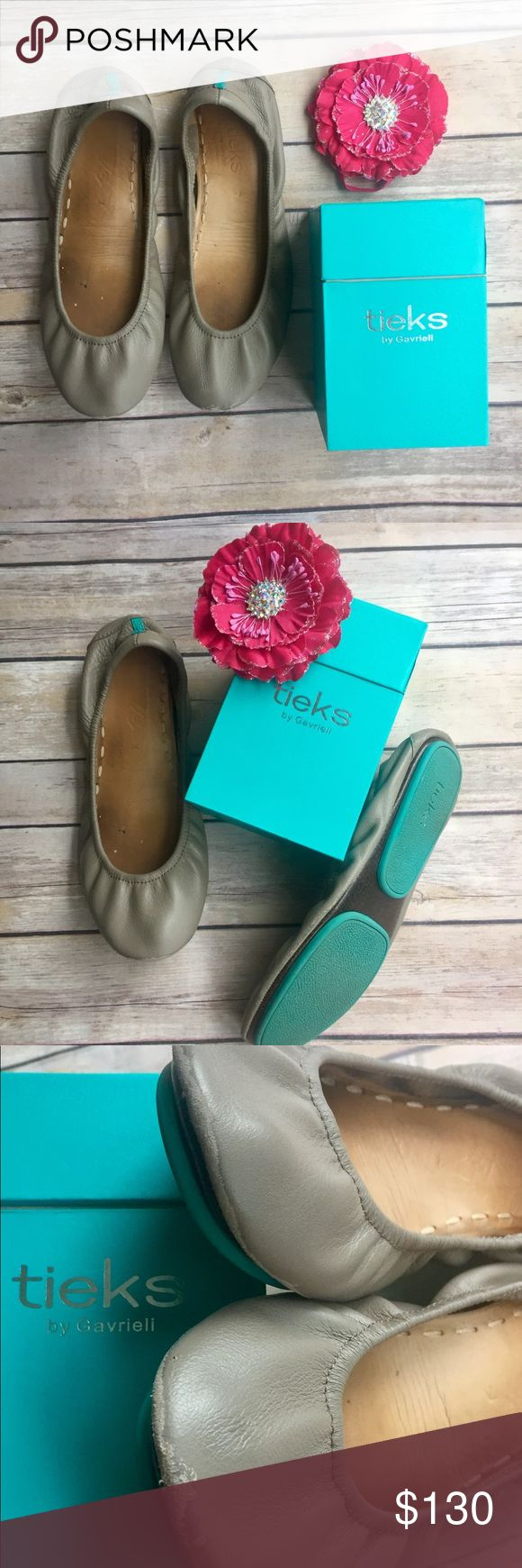 SALE Taupe Tieks Versatile taupe tieks. Size 7. They have some wear on the soles, tips, and heels. Still a lot of life left in these babies! Tieks Shoes Flats & Loafers