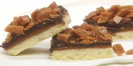 Caramel Toffee Squares - Anna Olson | Sweet Stuff | Pinterest