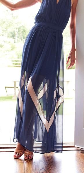 Sheer Zig Zag Maxi Dress / Akiko