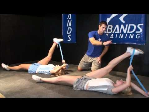 http://myosource.com/cheerleading-and-dance/.  Cheerleading stretch routine for jumps and stunts.  The stunt strap helps cheerleaders stretch and improve flexibility and leg strength for better jumps and stunts.