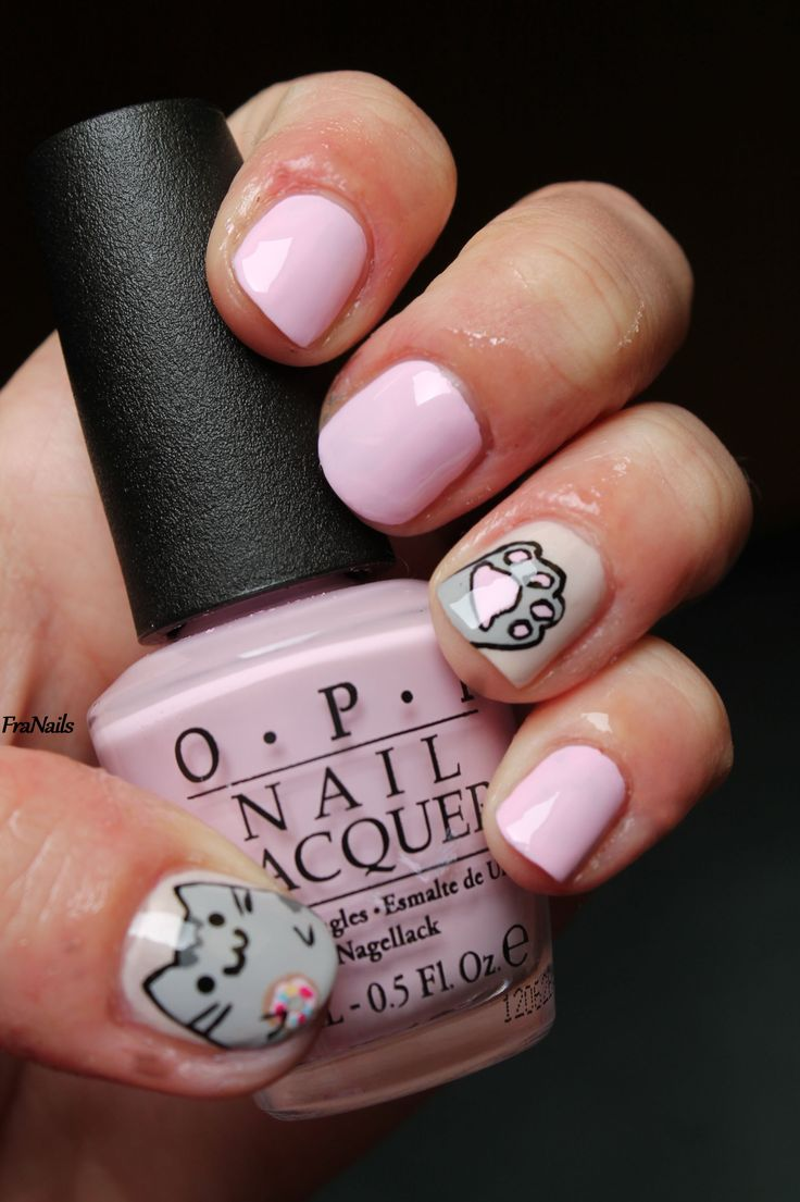 Pusheen nails! I must do this! :) :3