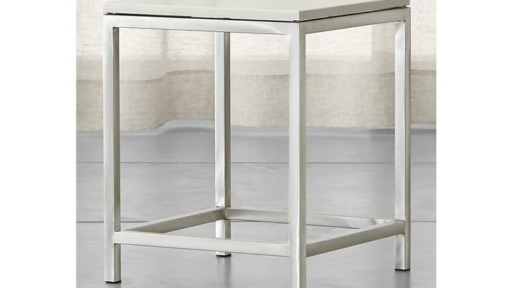 Era Limestone Square Side Table | Crate and Barrel